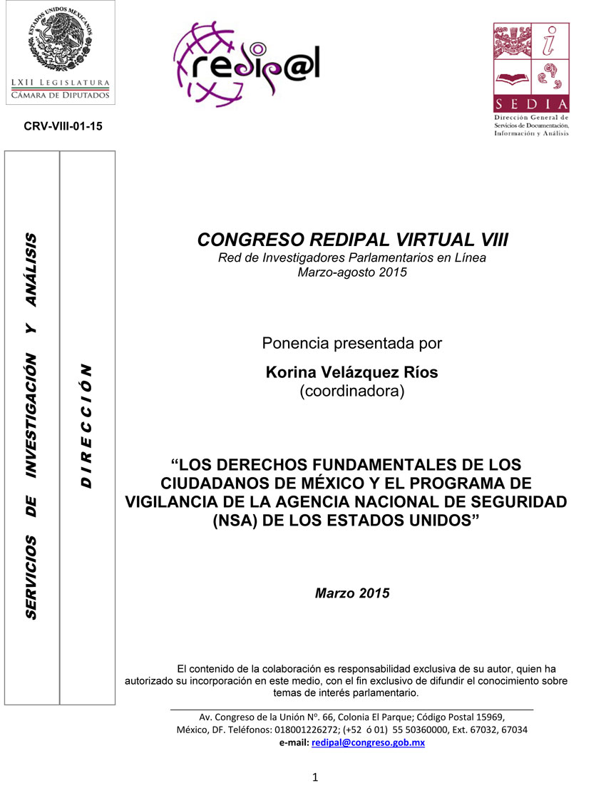 CONGRESO REDIPAL VIRTUAL VIII